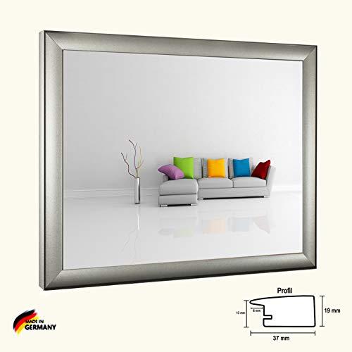 Bilderrahmen Olympia Mattsilber Silber Matt 30 x 45 cm Fotorahmen modern stabil eckig hochwertig preiswert mit spiegelfreiem Kunstglas