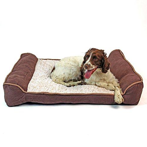 Easipet Canapé de luxe orthopédique pour votre chien/animal de compagnie en matériaux doux. Disponible en deux tailles (4002/4226) (Très Grand)