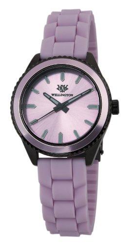 Wellington Karamea WN508-668 - Reloj analógico de cuarzo para mujer, correa de silicona color rosa