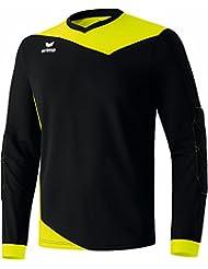 erima Torhüter Glasgow Torwarttrikot - Camiseta de portero de fútbol para hombre, color negro / amarillo neón, talla 12 años (152 cm)