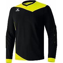 erima Torhüter Glasgow Torwarttrikot - Camiseta de portero de fútbol para hombre, color negro / amarillo neón, talla 15 años (164 cm)