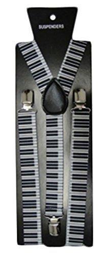 NEU Hosenträger Strapshalter verstellbar Schmal Unisex Herren Damen Hose Kostüm zum anklammern - Klavier, One (Klavier Kinder Kostüm)