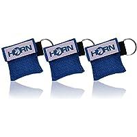 Horn-key - Beatmungstuch im Schlüsselanhänger 3er Pack (blau) preisvergleich bei billige-tabletten.eu