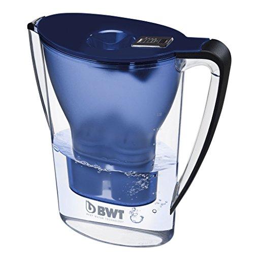 BWT Tischwasserfilter Penguin 2,7l dunkelblau; mit einer Kartusche, angereichert mit wertvollem Magnesium für höchste Vitalität
