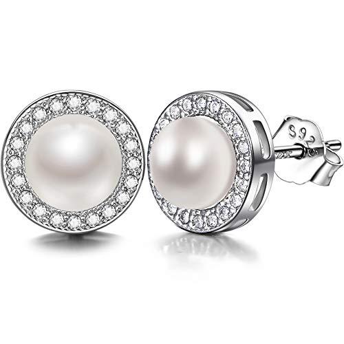 J.SHINE Pendientes Perlas zirconia cúbica...