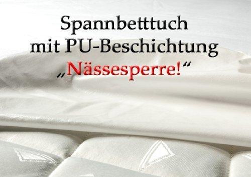 CA1075 Matratzenschutz als Spannbetttuch mit PU Beschichtung zusätzlich auch an den Seiten, Hygieneschutz, Inkontinenz, Spannlaken,Bettlaken, Pflege, (180x200cm)