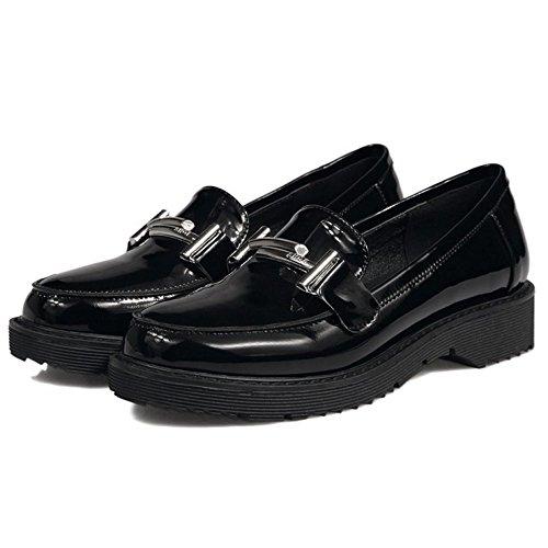 Zanpa Donna Moda Piatto Brogue Scarpe 1#Black