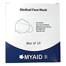 10 stuks, MYAID Medical Cup gezichtsmasker, 98% bacteriële filtratie.