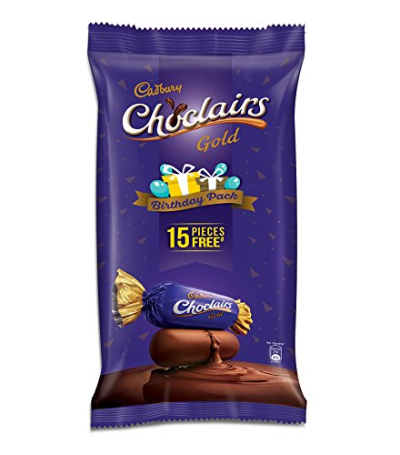 Cadbury Choclairs Gold Birthday Pack, 655.5g (Pack of 100) +...