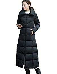 Queenshiny Long to ankle Women's Down Coat duck down filling winter down coat jacket black uk size from 8--14