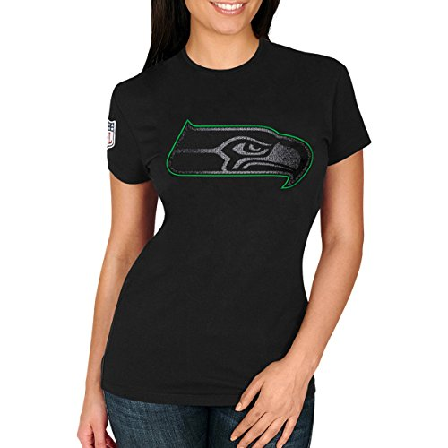 Majestic Fan Shirt - NFL Seattle Seahawks schwarz - L (Tom Brady Helm)