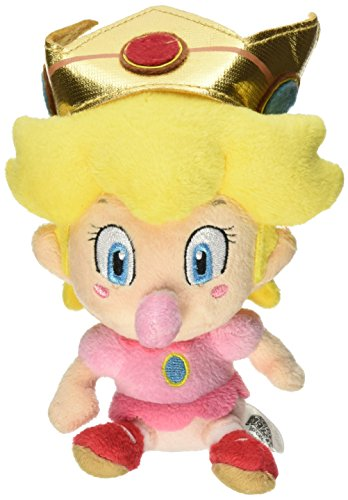 5 Official Sanei Baby Peach Soft Stuffed Plush Super Mario Plush Series Plush Doll Japanese Import by Sanei