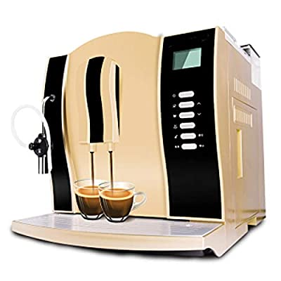 LJHA Italian coffee machine, fully automatic coffee machine, commercial coffee machine, coffee machine, coffee machine, filter coffee machine, dual-use 410mm × 338mm × 355mm gold by Made in Shanxi