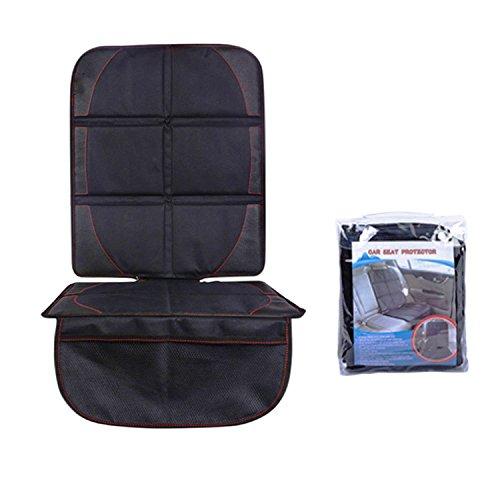 Protector de asiento de coche, NOTENS Universal resistente al agua Durable XL tamaño de la cubierta Protege el vehículo de cuero de automóvil Tapicería de tela para niños Coche de bebé Asientos y estera de perro - Esquinas reforzadas y 2 Mat Organizador (Black)