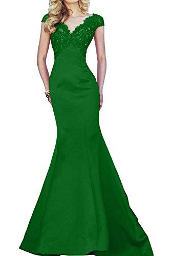 Toscane magie femme mariée asymétrique mermaid tuell abendkleider party ballkleider de longueur fixe Vert - Vert