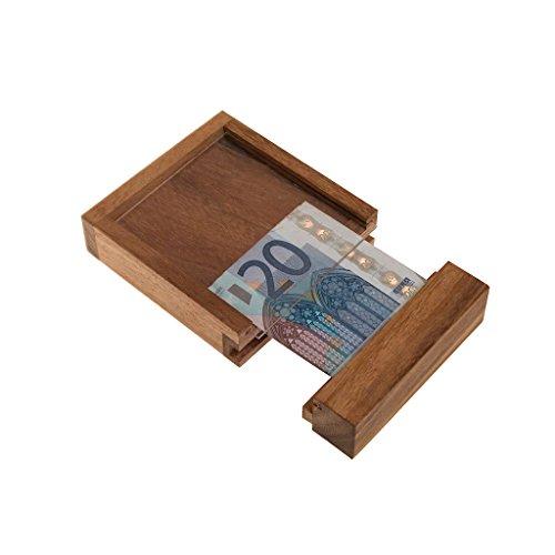 Geldtresor, eine tolle Verpackung für Geldgeschenke, Trickspiel aus Holz, Holzspiel, Denkspiel, Knobelspiel, Geduldspiel aus Holz, Money safe