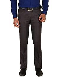 Brown Slim Fit Formal Trouser