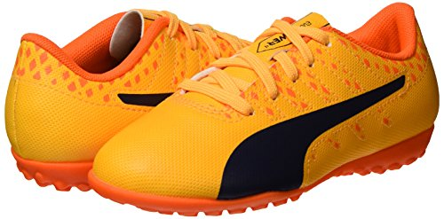 Puma Unisex Kids  Evopower Vigor 4 TT Jr Football Boots   Ultra Yellow-Peacoat-Orange Clown Fish 03   5 UK