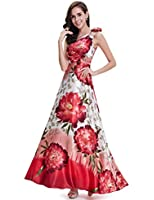Ever Pretty One Shoulder Flower Empire Line Satin Printed Prom Party Dress Size 09623