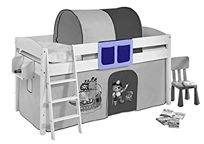Pockets pirate blue - for High sleeper, Mid sleeper and bunk bed produced by Idenses GmbH - quick delivery from UK.