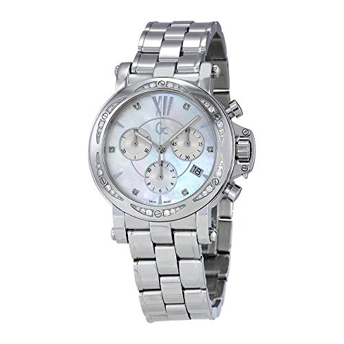 Guess GC Mother of Pearl Dial Ladies Chronograph Watch X73106M1S