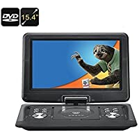 BW 15.4 Inch Portable DVD Player - 270 Degree 1280x800 Swivel Screen, Region Free, Anti Shock, USB, SD, AV, Game Emulation,Copy Function