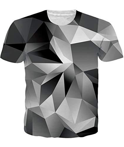 Diamant-damen Shirt (Fanient Herren Damen Aufdruck T-Shirt Rundhals Tee S M L XL XXL, Diamant, S)