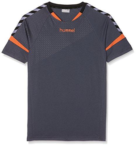 Hummel Kinder Auth Charge SS Train Jersey T-Shirt, blau (Ombre Blue/Nasturtium), 164-176