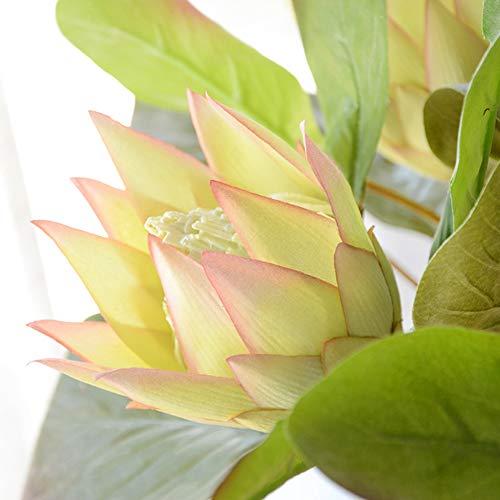 display08 Künstliche Blumen King Protea DIY Hochzeit Bouquet Party Decor Fake Plant Hellviolett