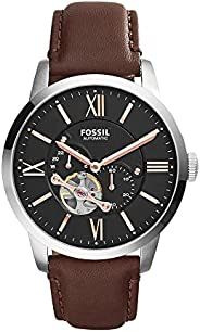 Fossil Mens Quartz Watch, Analog Display and Leather Strap ME3061
