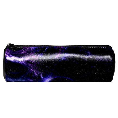 EZIOLY Blauer Planet Stifteetui aus Leder für Münzen, Kosmetik, Make-up-Tasche für Schule, Arbeit, Büro