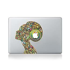 Psychedelic Lady Autocollant en Vinyle pour Macbook (Macbook 13 pouces et Macbook 15 pouces) / Portatif / Guitare