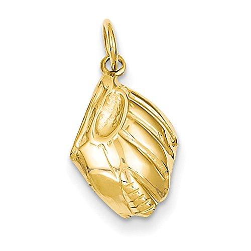 Lex & LU 14K Gelb Gold Baseball Handschuh Charme