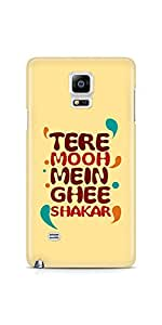 Casenation Tere Mooh Mein Samsung Galaxy Note 4 Glossy Case