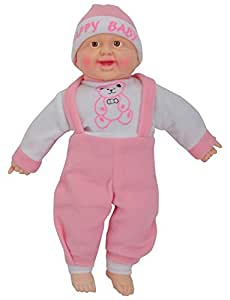 Fun N Play Laughing Baby stuffed Doll 42 CM Plush Soft Toys (Assorted Color)