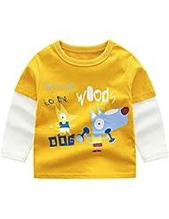 61dc7982e Mitlfuny Primavera Verano Niñas Camisetas Ropa de Deporte Bebé Niña Niño  Dibujos Animados Impresión Cosiendo Tops