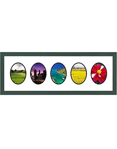 Frames by Mail Fünf ovale Öffnung Collage Rahmen für 8,9x 12,7cm Foto, grün -
