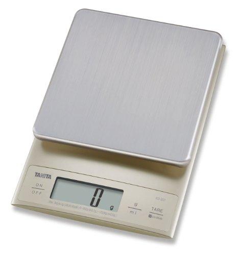 Tanita KD321SV33 Küchenwaage 3 kg mit Feinteilung 0.1 g