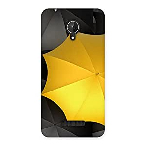 Delighted Black Yellow Umbrella Back Case Cover for Micromax Canvas Spark Q380