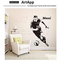 Utopiashi lionel messi barcelona Wall Sticker goals wallpaper football soccer barca argent