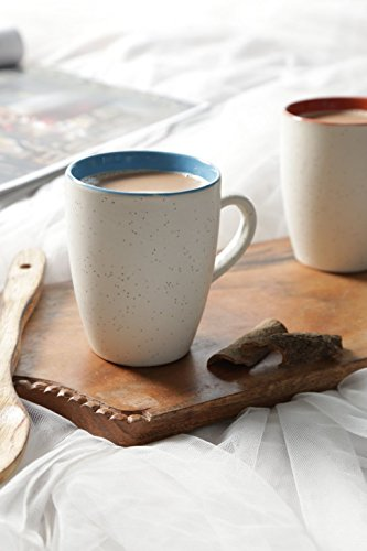 Speckled Offwhite Multicolor Large Coffee Mugs - Set of 2