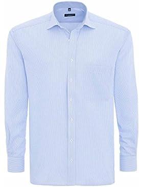 Eterna Herrenhemd Langarm Comfort Fit Blau gestreift Businesshemd Business Hemd Herren Freizeithemd Baumwollhemd...