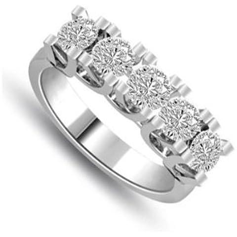 0.90ct H/SI1 Diamante Half Eternity Anello da