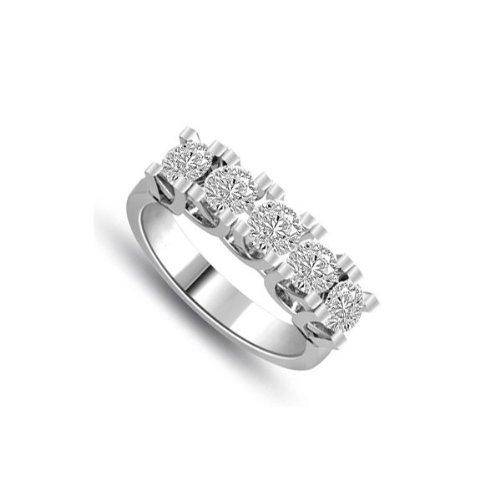 0.80ct G/VS1 Diamante Half Eternity Anello da
