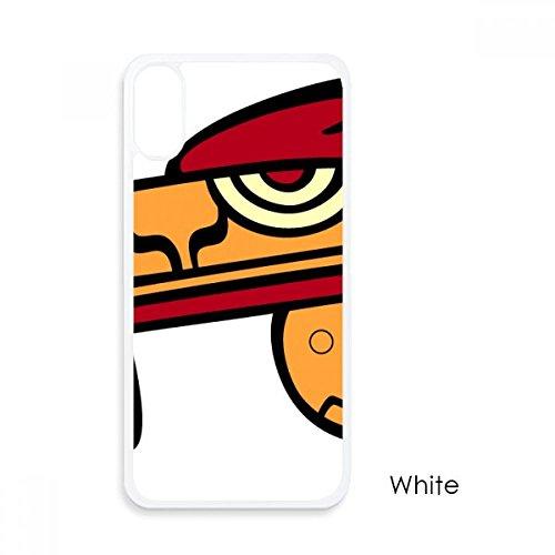 beatChong Indische Kunst-Zeichnung Tierkopf für iPhone X-Hüllen Weiß phonecase Apple-Abdeckungs-Fall-Geschenk