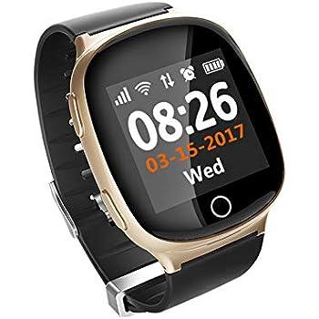 Dignity Smart Watch, Bouton SOS pour Les Personnes âgées, DE Tomber capteurs, Suivi
