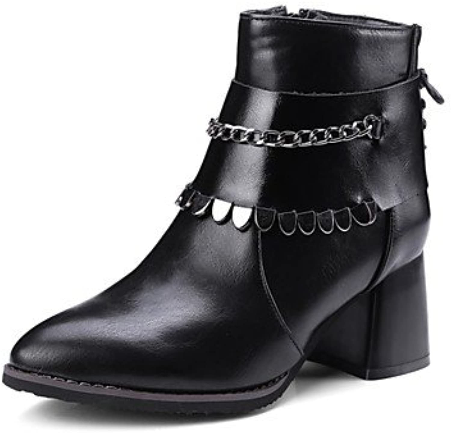 f1b2f2924db8 Women s Shoes Leatherette Leatherette Leatherette Winter Novelty Fashion  Boots Boots Chunky Heel Pointed Toe Mid-Calf Boots For Casual.