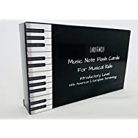 Music Flash Cards for Piano, 46 Large Size (13cm x 8cm) Music Flashcards UK and USA terminology, Teach your kids to read music, Learn to read music SIGHT-READING, INTRODUCTORY LEVEL, FOR KIDS (BIG AND SMALL!), Suitable For Kids, Parents, Piano Teachers, Music Teachers, Gift for musical child, Music Theory Flash Cards