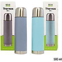 girm®–hx916384colorido Thermos de acero inoxidable 500ml–termo para bebidas hasta a medio litro–Capacidad máxima 0,5L