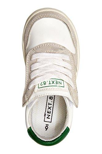 next Garçon Baskets à lacets rétro (Maternelle garçon) Blanc